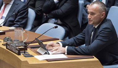 Nickolay Mladenov, the UN Special Coordinator for the Middle East Peace Process, briefs the Security Council on the situation in the Middle East, reporting on UNSCR 2334