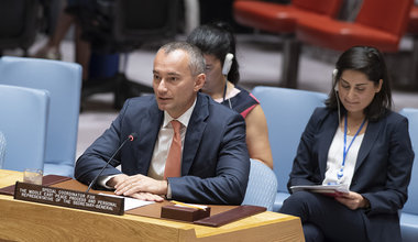 UN Special Coordinator Nickolay Mladenov briefing the Security Council on the Situation in the Middle East and reporting on UNSCR 2334 (2016) - 19 June 2018 (UN Photo/Eskinder Debebe)