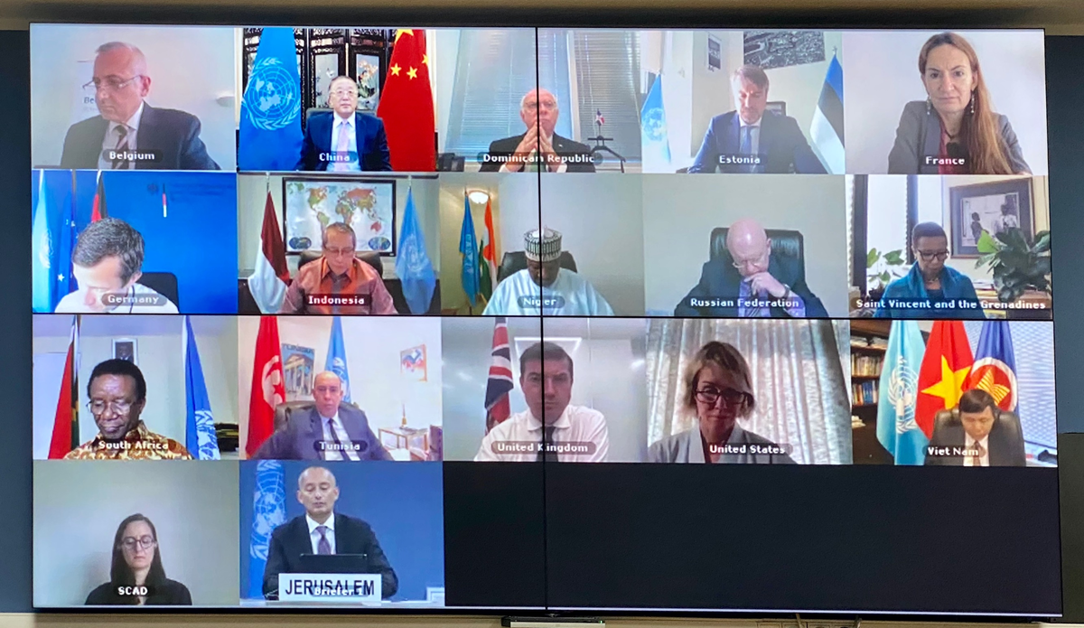 UN Special Coordinator for the Middle East Peace Process, Nickolay Mladenov, briefs the Security Council via VTC on the Situation in the Middle East - 25 August 2020 (UNSCO Photo/Daniela Penkova)