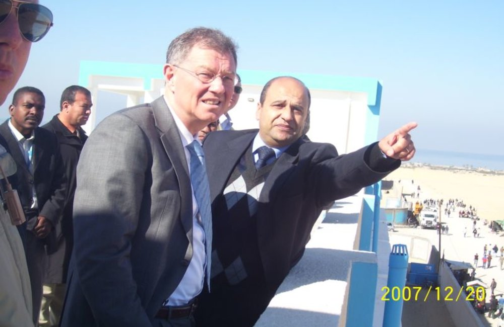 Robert Serry's Visit to UNRWA Housing Project in Gaza