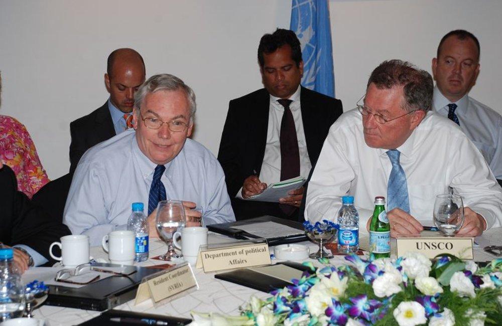 Lynn Pascoe and UN Special Coordinator Robert Serry