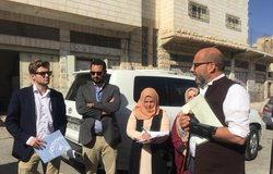 UN Deputy Special Coordinator/Resident Coordinator/Humanitarian Coordinator, Mr. Robert Piper, in a visit to a number of educational facilities in H2/Hebron City