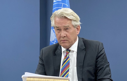 UN Special Coordinator for the Middle East Peace Process, Tor Wennesland, briefs the Security Council on the Situation in the Middle East, including the Palestinian question. (UNSCO Photo/Murad Bakri - 27 May 2021)