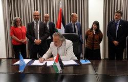 ILO Representative, Mr. Mounir Kleibo, signs the 2018-2022 UNDAF in Ramallah