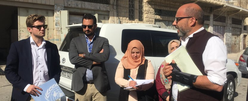 UN Deputy Special Coordinator/Resident Coordinator/Humanitarian Coordinator, Mr. Robert Piper, in a visit to a number of educational facilities in H2/Hebron City. (UNSCO Photo - 17 October 2017)
